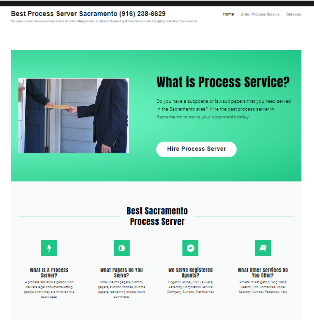 Process Server Websites With Order Forms